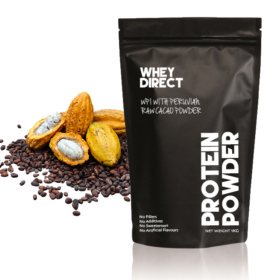 Whey Direct new Zealand whey protein isolate with peruvian raw cacao