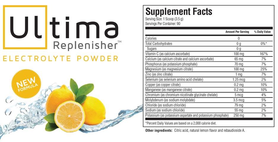 ultimareplenisher lemonade supplement